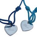 Engraved Silver Heart Bracelet